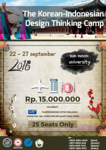 Pamflet The Korean-Indonesian Design Thinking Camp