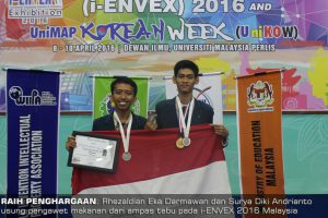 UB as runner up I-ENVEX 2016